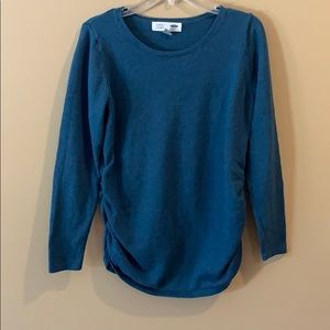 Blue maternity old navy sweater